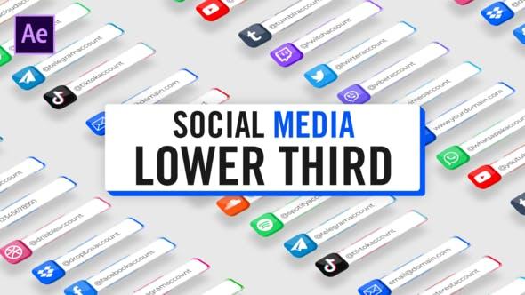 3D Social Media Lower Thirds