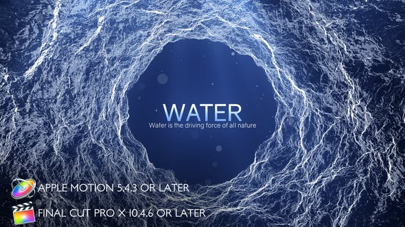 Thumbnail for Water - Inspirational Titles - Apple Motion