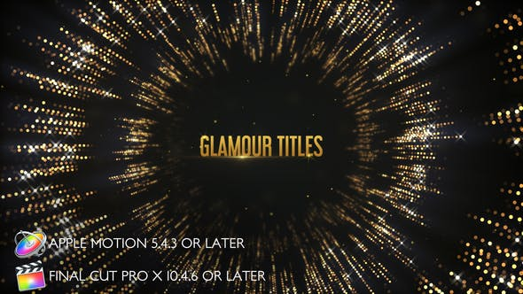 Thumbnail for Glamour Titles - Apple Motion