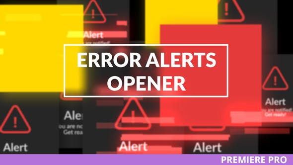 Thumbnail for Error Messages Glitch Opener for Premiere