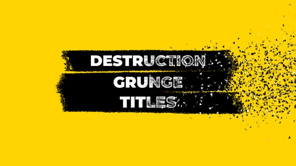 Thumbnail for Destruction Grunge Titles