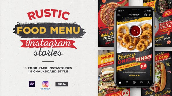 Rustic Food Menu Instagram Stories