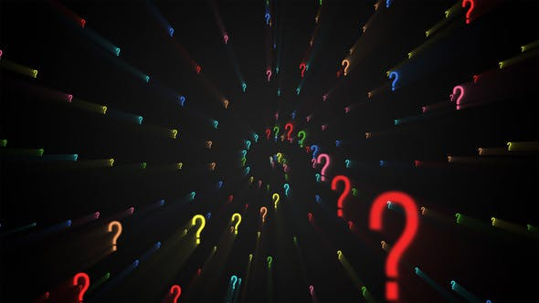 Thumbnail for Question Marks Forming Background - 2 clips