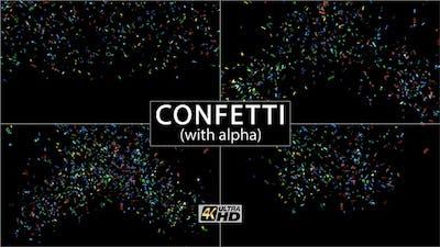 Confetti (With Alpha) 4K