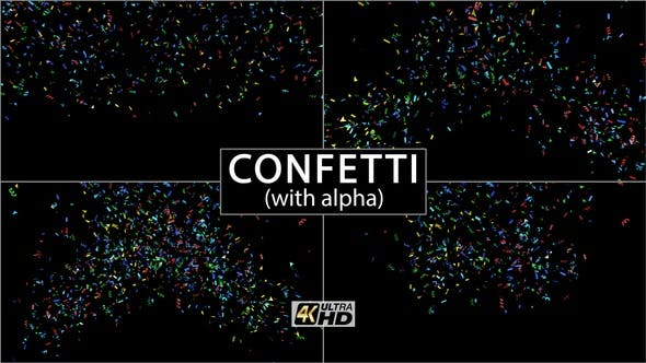 Thumbnail for Confetti (With Alpha) 4K