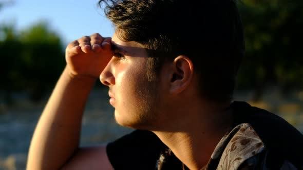 Young Man Exploring