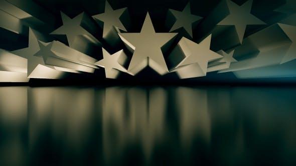 3D Stars Motion Graphic