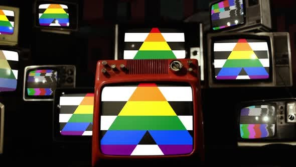 Thumbnail for Straight Ally Flag and Retro TVs.