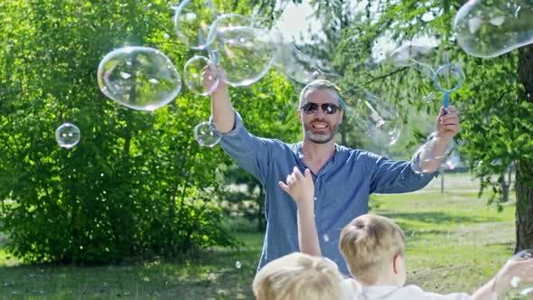 Thumbnail for Bubble Artist Showing Tricks for Little Kids