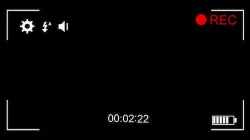 Digital animation of camcorder screen 4k