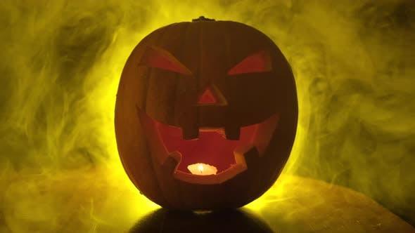 Thumbnail for Halloween Pumpkin in Mist