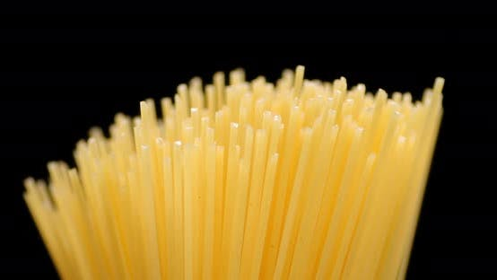 Thumbnail for Bunch of Italian Pasta Spaghetti Dry Slowly Rotates