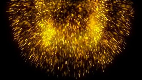 Golden Particles Explosion V6