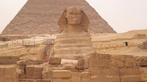 Great Sphinx of Giza, colossal limestone statue