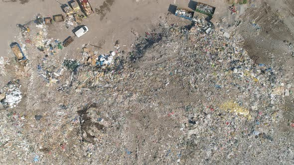 Thumbnail for Garbage Dump Landfill Top Down Aerial View