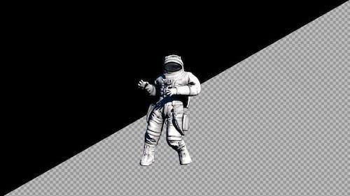 8K Astronaut Dancing