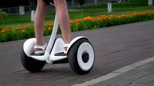 Girl Ride on Smart Gyro Scooter