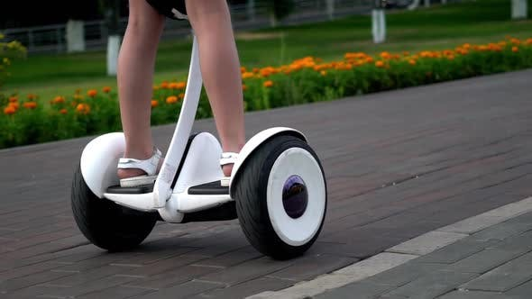 Thumbnail for Girl Ride on Smart Gyro Scooter