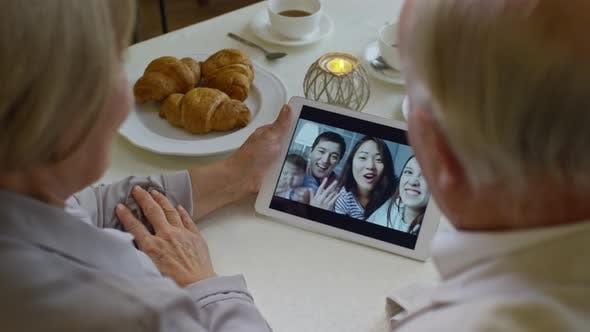 Thumbnail for Pensioners Having Video Call with Family