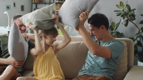 Family Fighting Pillows