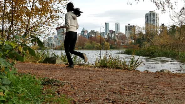Thumbnail for Vancouver City - Lost Lagoon - Jogging Girl