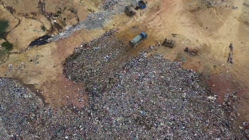 Waste disposal of rubbish land.