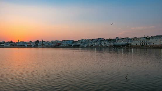 Cover Image for Sunset time lapse at Pushkar, Rajasthan, India