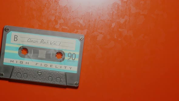Thumbnail for Stop Motion of Retro Cassette with Classic Rock Vol 1