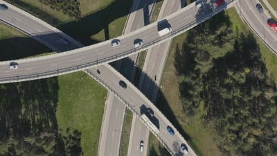 Highway Interchange with Bridges