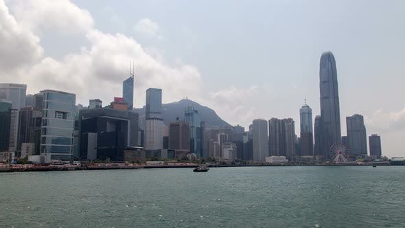 Thumbnail for Timelapse Hong Kong Motorboat at Central Western Districts