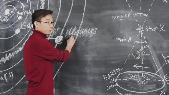 Astronomy Lesson in University