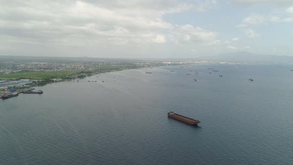 Thumbnail for Cargo Ships in the Harbor. Batangas, Philippines