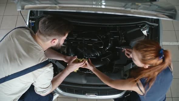 Thumbnail for Fixing Vehicle at Car Service