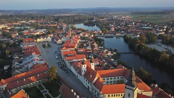 Thumbnail for Aerial View of Old Town Telc, Czech Republic