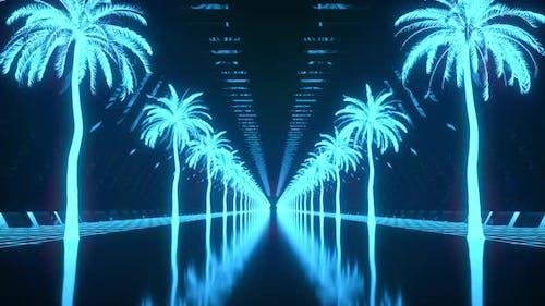 Palm Neon Background