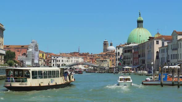 Thumbnail for Marine Tours in Italy, Vaporetto Sailing Grand Canal in Venice, Sightseeing Tour