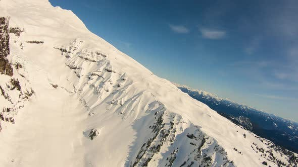 Deming Glacier Black Buttes North Cascades Mountains Mt Baker Snowy Aerial