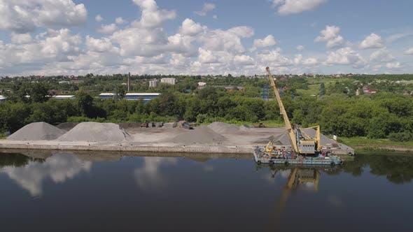 Thumbnail for River Crane Excavator Barge