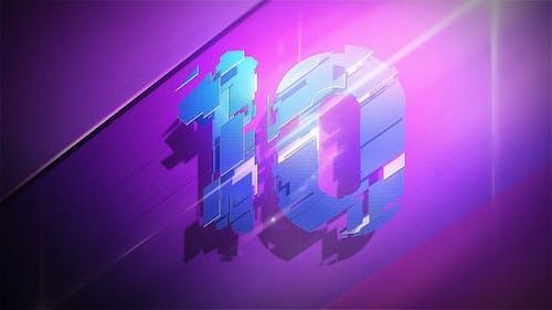 3D Plates Countdown Neon Colors