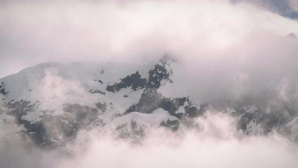 Thumbnail for Snowy Mountain Fog Cloud Timelapse