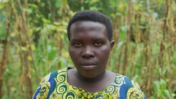 Close up of an Ugandan woman