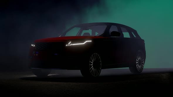 Thumbnail for SUV on Foggy Background