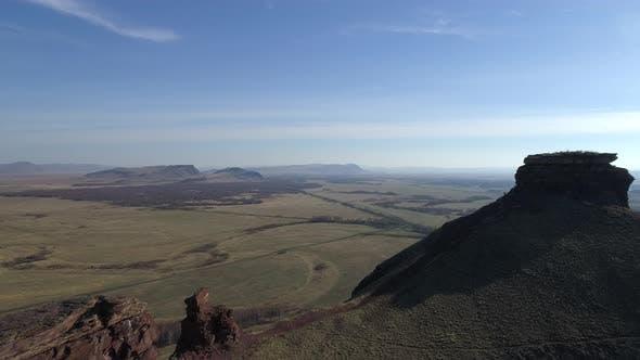 Thumbnail for Aerial View of the Mountain Range Siberian Stonehenge