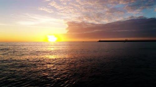Ocean Sea Waves Sunset
