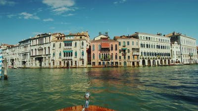 A Spectacular Cruise on the Grand Canal in Venice. Tourism in Italy