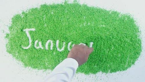 Green Hand Writing January