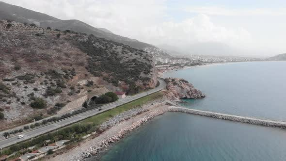 Coastline in Alanya, Turkey