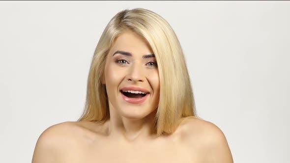 Thumbnail for Shocked Blonde Woman. White