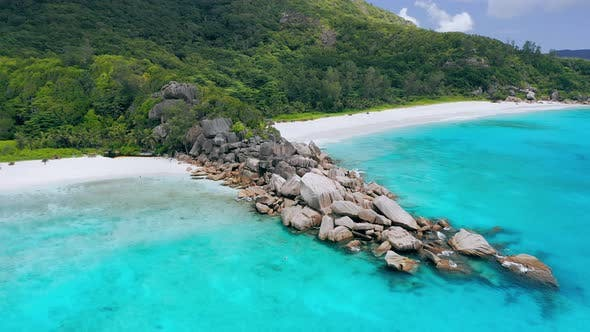 Thumbnail for Grand Anse and Petite Anse Beaches La Digue Island, Seychelles