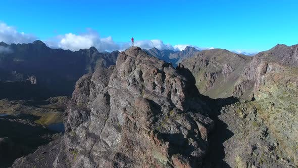 A Man on Top of Mountain